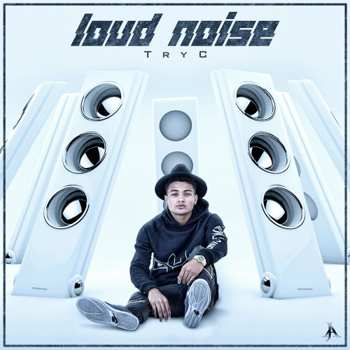 single cover artwork for pop artist tryc loud noise